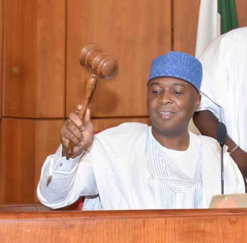 Senator Bukola Saraki President of Nigerian Senate...got letter from Maina but did not rule on it