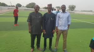 Mahmud Sanusi Mohammed in the middle