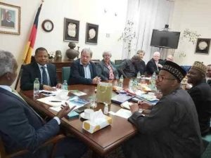 Gov. Bala Mohammed in a Business meeting in Germany