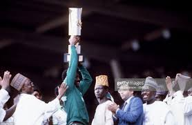 Christain Chukwu lifting the Cup