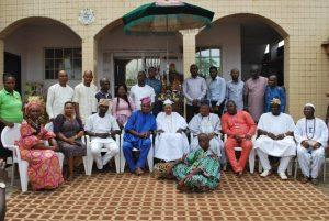 NUJ Members at the Alafin Palace in Oyo